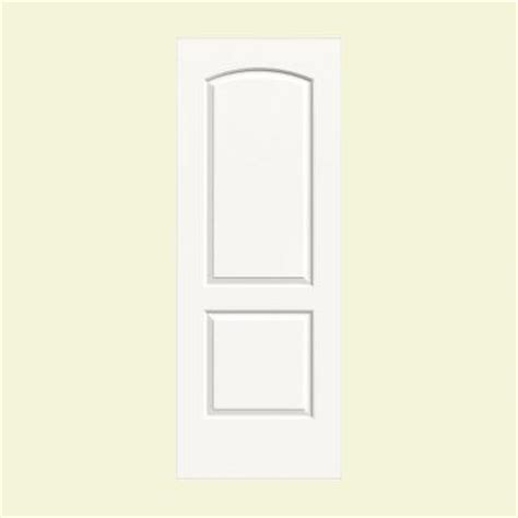2 panel arch top interior doors jeld wen 36 in x 80 in smooth 2 panel arch top painted