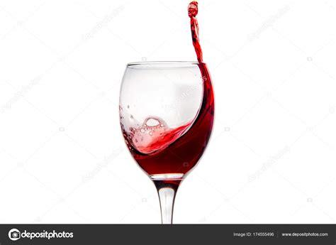 Immagini Bicchieri Di by Bicchiere Di Con Spruzzi Gocce Di Rosso Foto