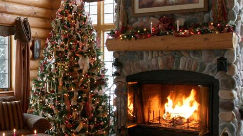 log home christmas decor beautiful   log home