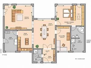 Massivhaus Kern Haus Bungalow Fokus Grundriss Erdgeschoss