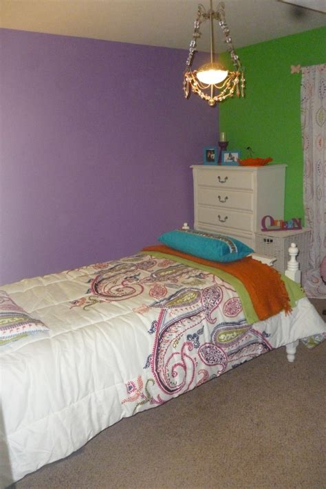 Purple And Lime Green Bedroom (photos And Video