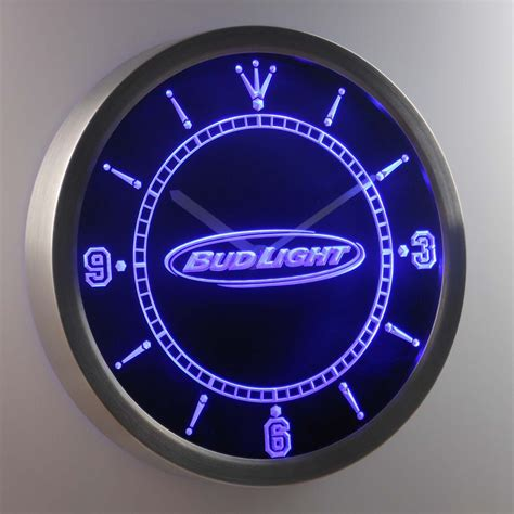 bud light horizontal led neon wall clock safespecial