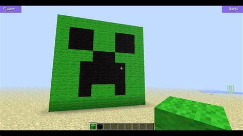 minecraft creeper face build hack youtube