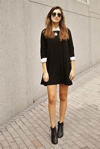 1001 idees pour une tenue avec bottines chic et for Look robe et bottines