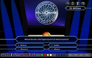 who wants to be a millionaire demonstration hd ppt 2010 With who wants to be a millionaire blank template powerpoint