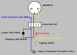 Vire 7 Wiring Diagram  Magneto  U0026quot Stop U0026quot  Switch  U0026 6 Volt Ac Lighting System