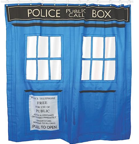 doctor who tardis shower curtain by half moon bay