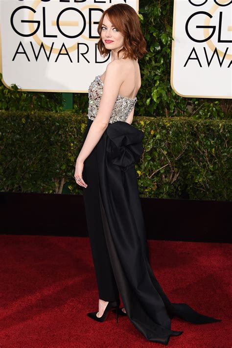 Emma Stones Golden Globes 2015 Dress Hollywood Reporter