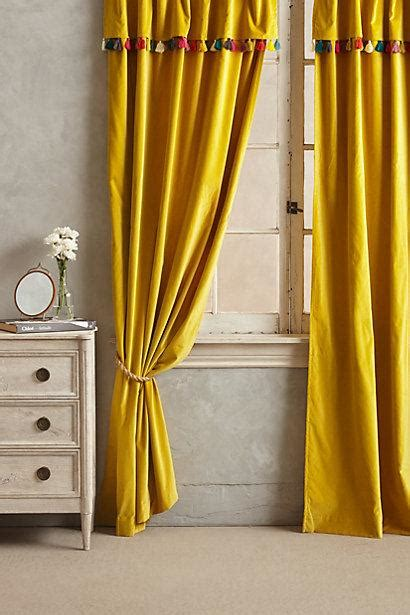 yellow velvet curtains firenze yellow velvet tassel curtain 1225