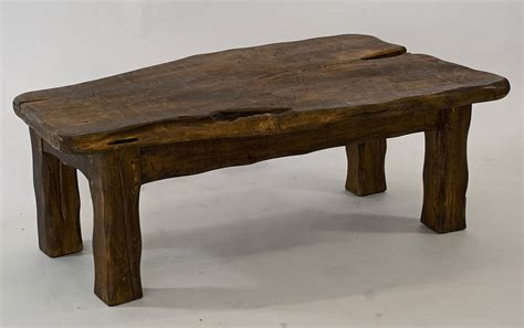Handmade Chunky Dark Wooden Coffee Table By Kwetu