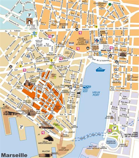 Carte Touristique Du Centre De La by Info Carte Touristique Marseille