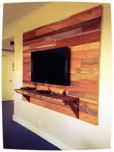 Reclaimed Wood Accent Wall TV