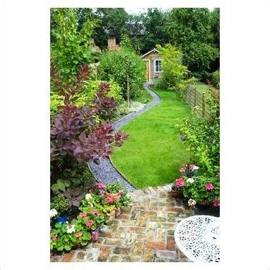 garden design ideas  long narrow gardens garden design