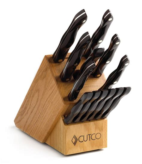 cutco kitchen knives galley 6 set with block 15 pieces knife block sets by cutco