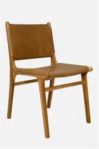 leather dining chair flat teak tan