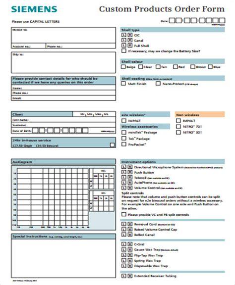 sample custom order form  examples  word
