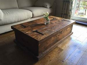 chunky rustic coffee table chest solid wood dark oak stain With rustic pine coffee table with storage