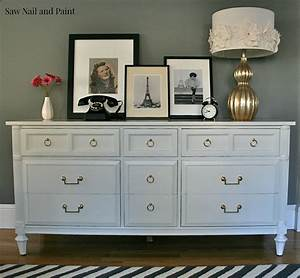 Antique White Thomasville Dresser - Saw Nail and Paint