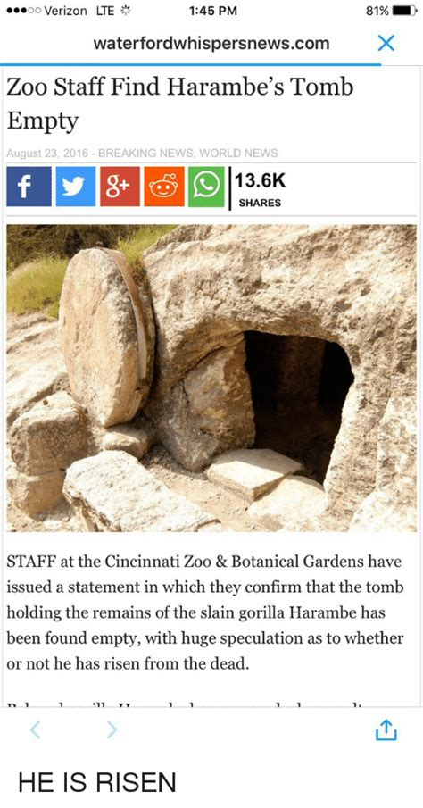 He Is Risen Meme - funny harambe memes of 2017 on sizzle harambism