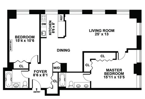 fresh two bedroom apartment layout 99 rentals deco lofts apartments for rent