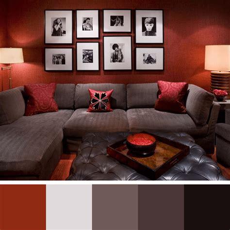 sofa vermelho queimado paletas de cores para sala arquidicas