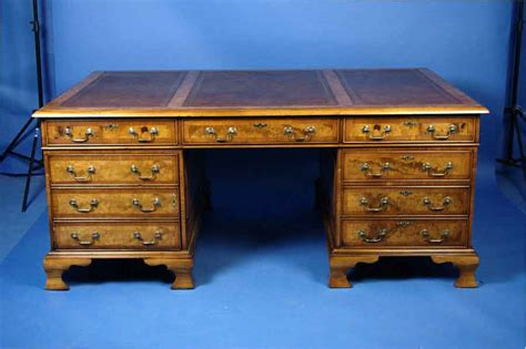 partners desk for sale large walnut partners desk for sale antiques com