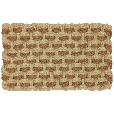 braided coir doormat mohawk home admiral rope 18 in x 30 in braided