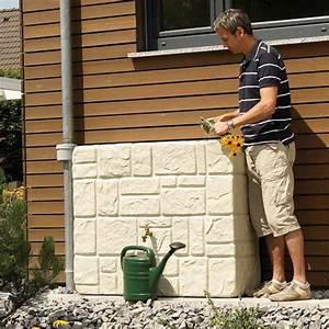 Bac Récupérateur D Eau De Pluie : r cup rateur d 39 eau de pluie 300l aspect pierres sable en ~ Premium-room.com Idées de Décoration