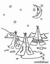 Village Indios Colorear Pintar Colorir Dibujos Coloring Coloriage Desenho Noite Indien Tiendas Tribo Indianer Indian Imprimir Hellokids Indians Vaqueros Ausmalen sketch template