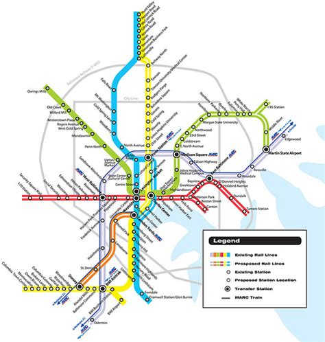 baltimore light rail map rebuilding place in the space from the files