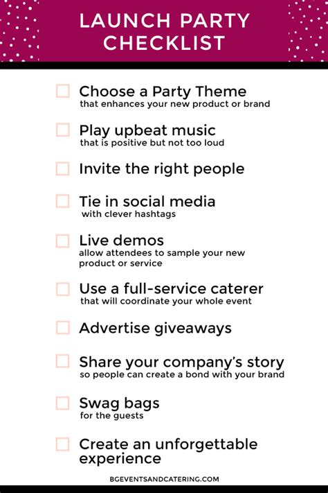 things intro template don t forget these 10 things at your next product launch bg events and catering