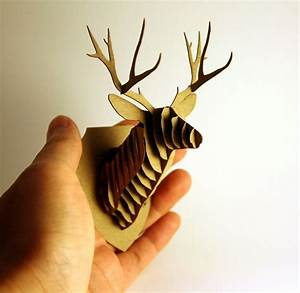Dollhouse miniature deer trophy head modern animal