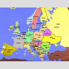 Europa Länder Und Hauptstädte Karte Zum Ausdrucken