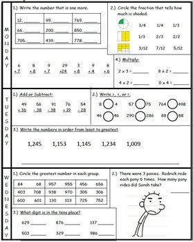 3rd going to 4th math summer packet by dc klein tpt