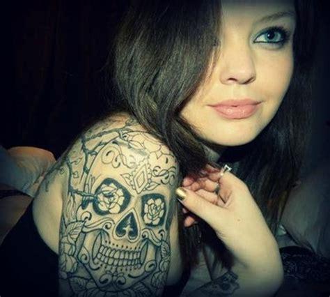 arm skull tattoos