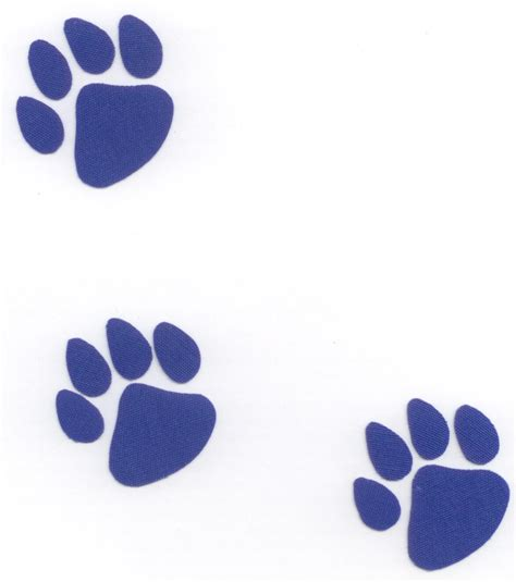 Blue Bulldog Paw Print Clipart Best