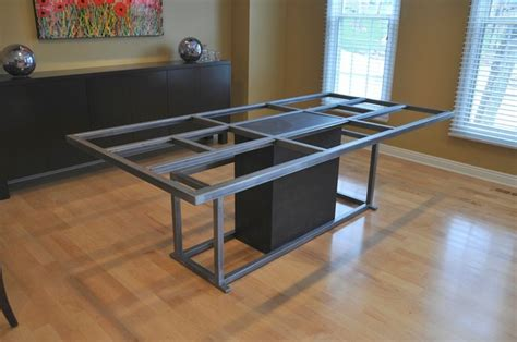 kitchen table bases metal steel table base table tops and bases omaha by