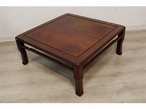 Table Basse Bois Exotique : table basse carr e en bois exotique ~ Dode.kayakingforconservation.com Idées de Décoration