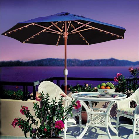 patio umbrella lights with patented battery operated