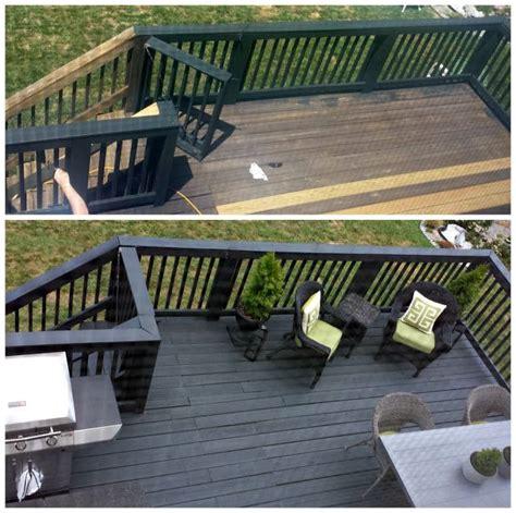black slate stain deck repair