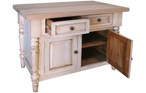 French Country Butcher Block Kitchen Island   French