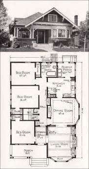 large bungalow house plans transitional bungalow floor plan c 1918 cottage house