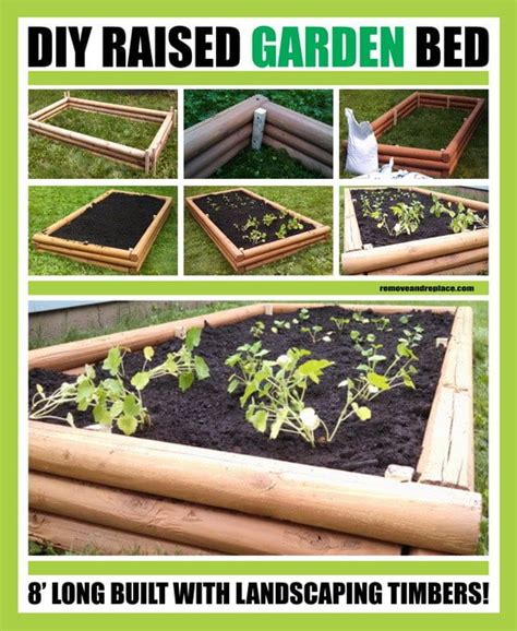 diy raised garden bed with landscaping timbers us3