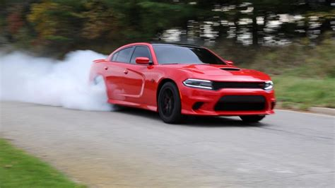 Dodge Charger Hellcat Burnouts by Dodge Hellcat Performs Loud Smoke