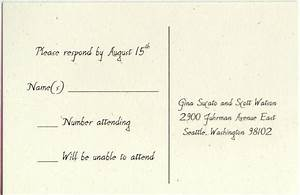 sample rsvp cards for wedding invitations With samples of wedding response cards wording
