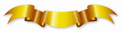Ribbon Golden Banner Transparent Graphic Hq