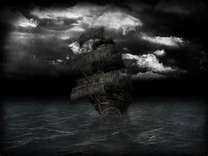 Ship Pirate Ghost Wallpapers 3d Storm Background
