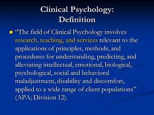 clinical psychology definition ppt video online download With clinical research field