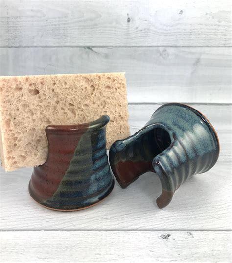 shower sponge holder sponge holder pottery sponge keeper kitchen and bath etsy