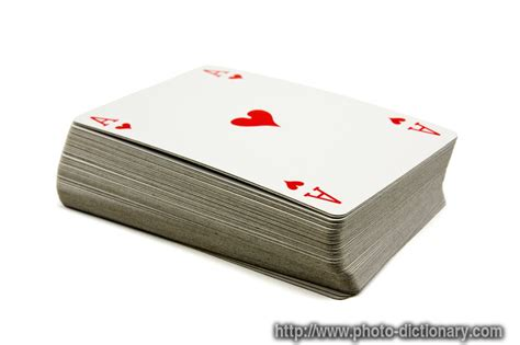 deck of cards photo picture definition at photo dictionary deck of cards word and phrase